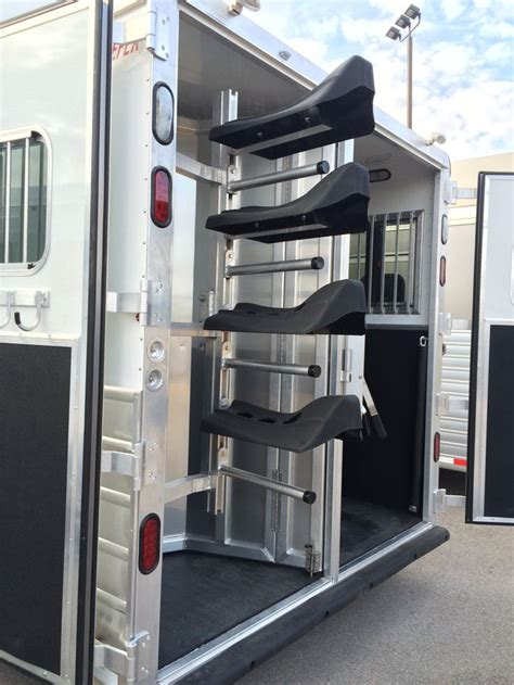 Saddle Racks For Trailers by Swing Out And Removable Saddle Rack Kiefer Trailers See