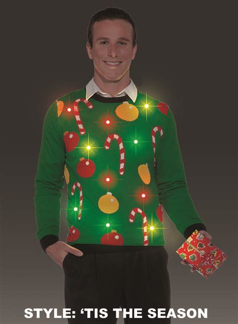 Light Up Christmas Sweaters For Men Decoratingspecial Com Sweaters For With Lights