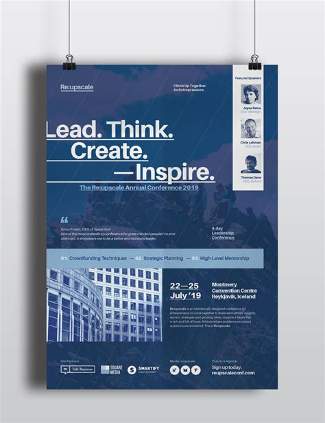 templates for business posters a set of 4 event conference seminar forum symposium