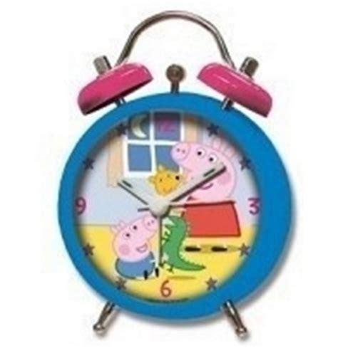 peppa pig blue alarm clock
