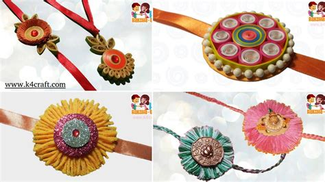 Handmade Rakhi Ideas - 5 best handmade rakhi ideas for rakshabandhan k4 craft