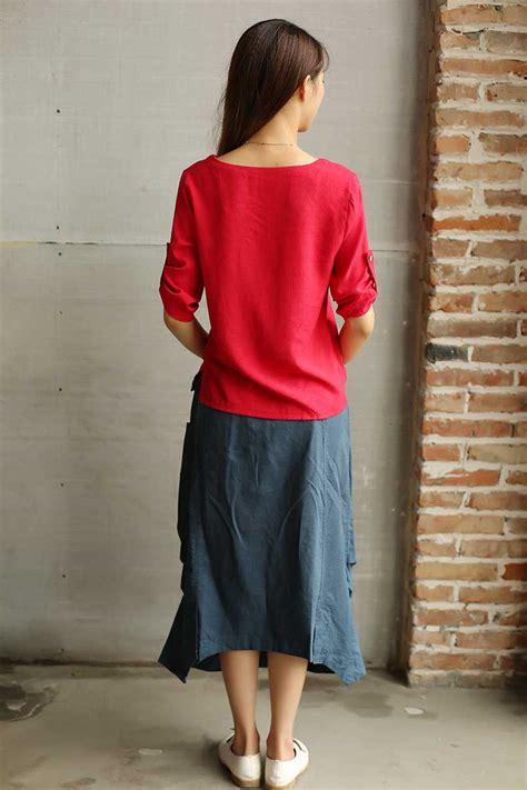 Atasan Merah baju atasan natal warna merah simple myrosefashion