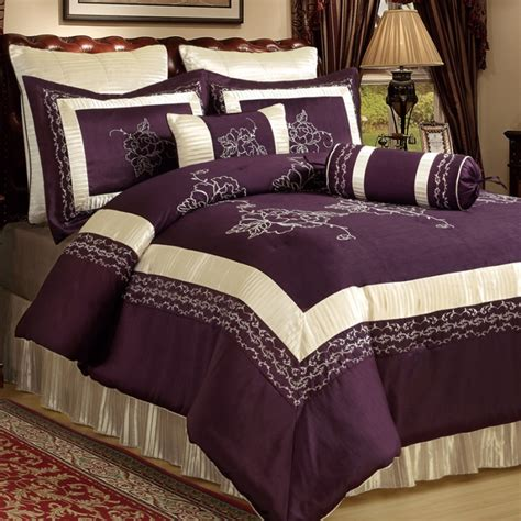 plum bedding sets ivory and plum comforter set wall art pinterest plum