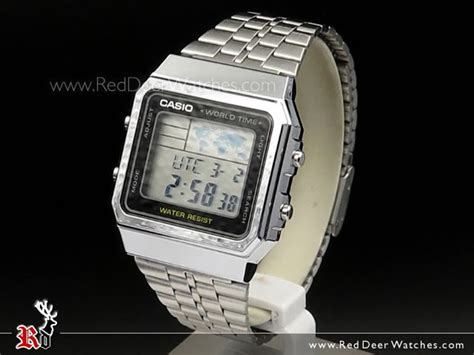 Casio A500wa 1df Stainless Steel World Time 100 New Original buy casio world time alarms digital a500wa 1df buy watches casio deer watches