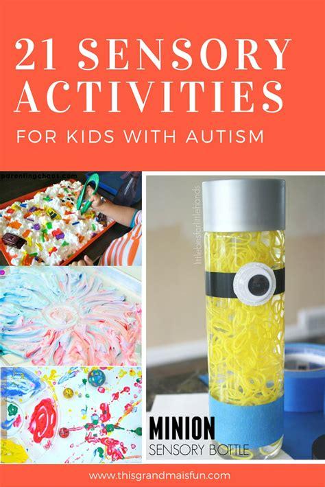 sensory activities  kids  autism tgif