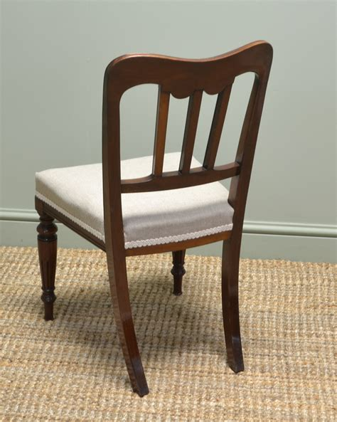 Antique Dining Chairs Uk Spectacular Set Of Six Walnut Antique Dining Chairs Antiques World