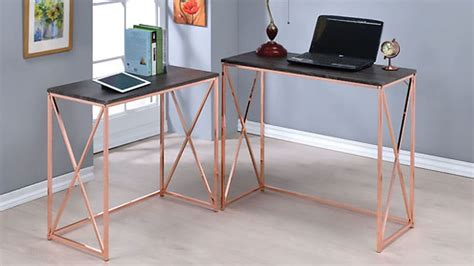 rose gold desk l stunning clybourn desk images best inspiration home