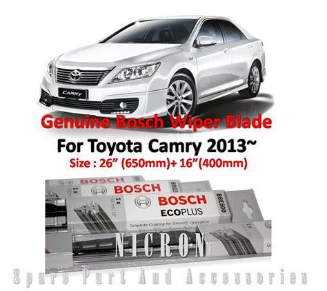 Wiper Toyota Bosch Advantage Size 2018 toyota camry 2012 size 26 16 genui end 6 12 2018 5 15 pm