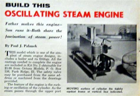 oscillating steam engine diagram oscillating steam engine boiler how to build plans ebay