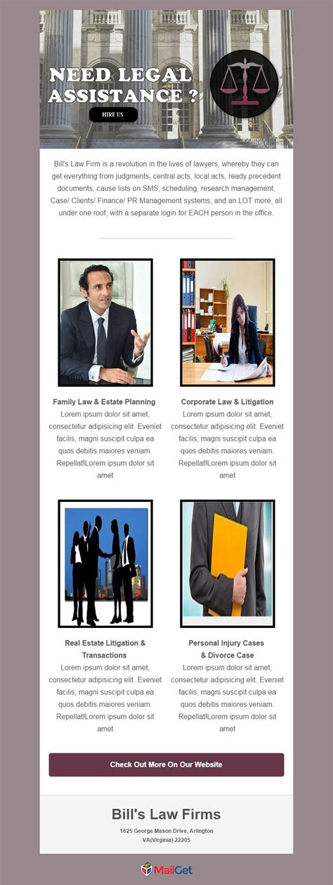 firm newsletter templates 5 free email templates for lawyers firms 2018 mailget