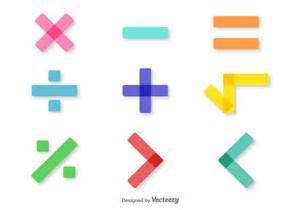vector colorful math symbols set free vector