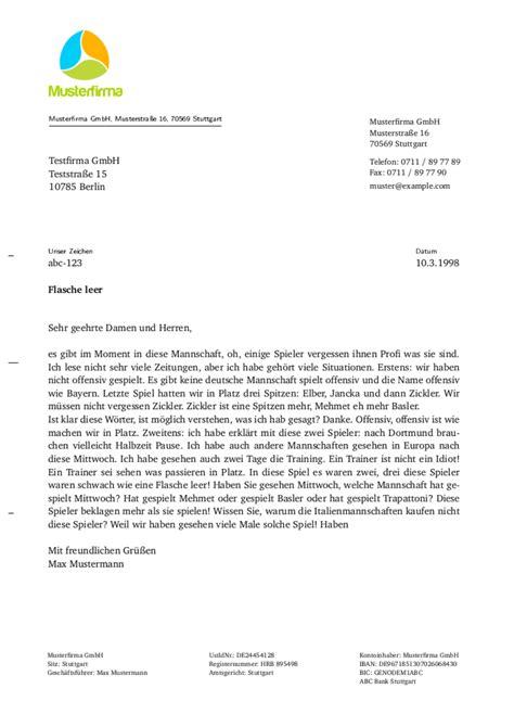 Offizieller Brief Norm Din 5008 Brief Regeln F 252 R Den Gesch 228 Ftsbrief