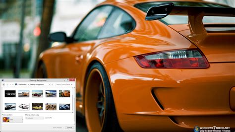 microsoft themes cars download porsche 911 windows 7 theme 1 00