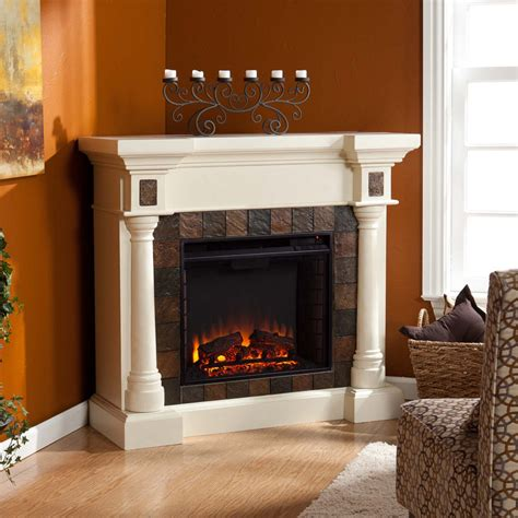 Rustic Corner Fireplace by Rustic Electric Fireplaces I Portable Fireplace