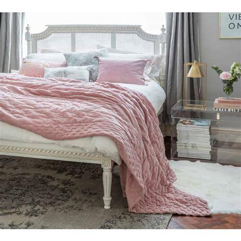 pink bed spread plushious velvet bedspread in dusky print pink velvet throw