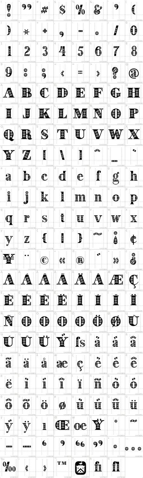 decorative symbol font download decorative font