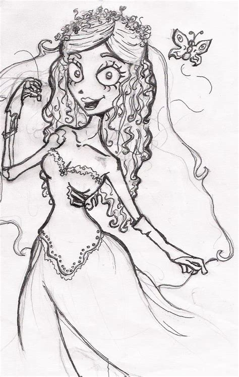 emily and victor the corpse bride coloring pages coloring