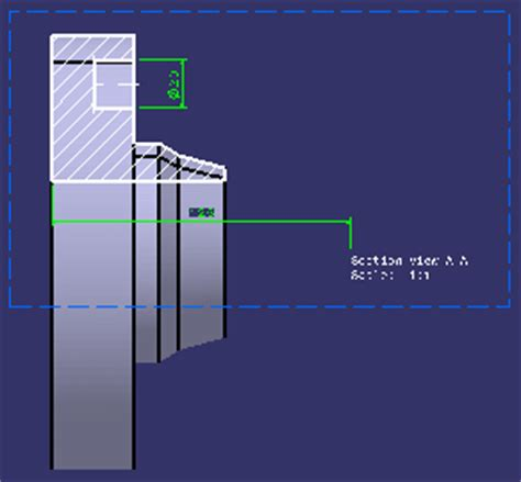 definition of section view using the cutting plane