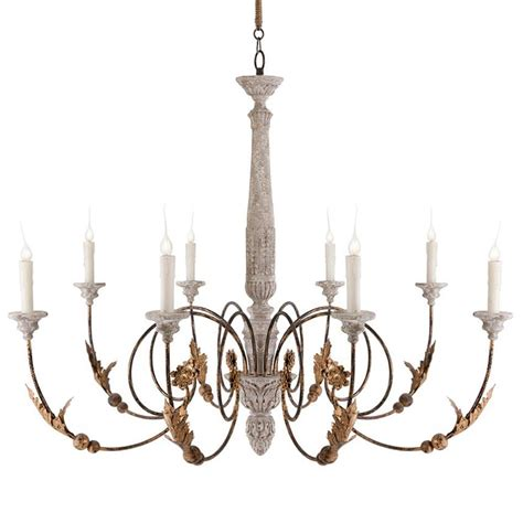 Country Chandeliers Pauline Large Country 8 Light Curled Iron Arm Chandelier Kathy Kuo Home