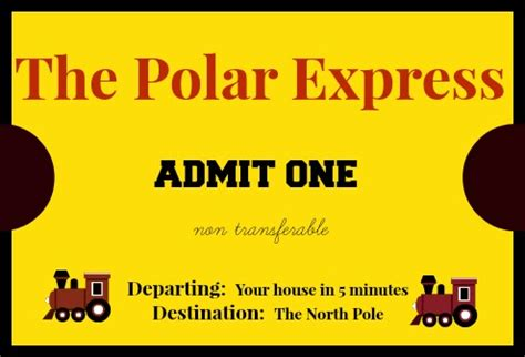 printable minivan express tickets east coast mommy the polar express mini van adventure