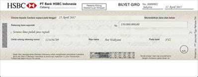 your new cheque and giro books hsbc indonesia