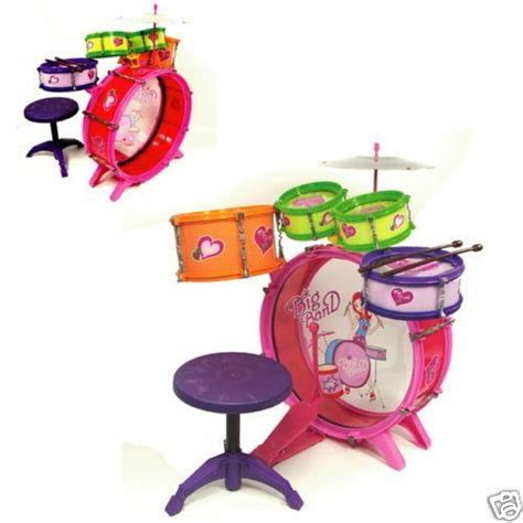 Peppa Pig Drum Set With Stool by Drum Set Kit Children Musical Instrument By