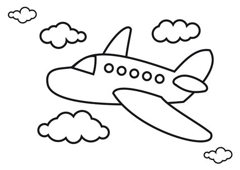 preschool coloring pages airplane airplane coloring pages for preschool coloringstar