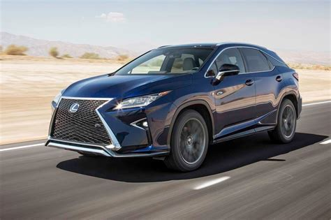 lexus rx 350 blue lexus rx 2017 motor trend suv of the year contender