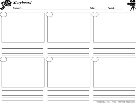 Storyboard Outline Template by Storyboard Template Pdf Print Www Imgkid The Image Kid Has It