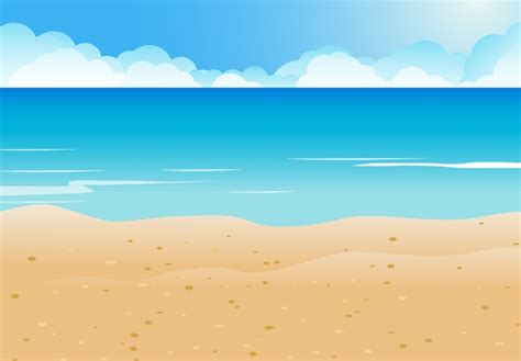Modern Cards by Sea With Beach And Cloud Background Vector