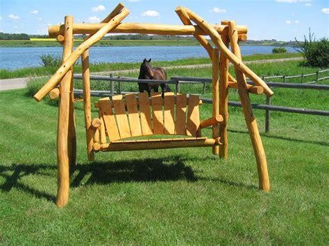 log swings canadian handcrafted log swing 171 the log builders