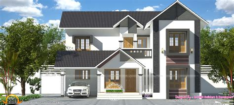 1900 sq feet kerala model sloping roof house house gandul 2232 sq ft 3 bedroom kerala sloping roof house