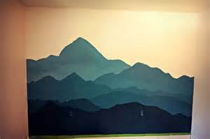 create a mountain mural trail to summit the quot mountain mural quot bedroom makeover from the archives