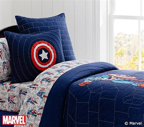 captain america bedding captain america quilt pottery barn kids