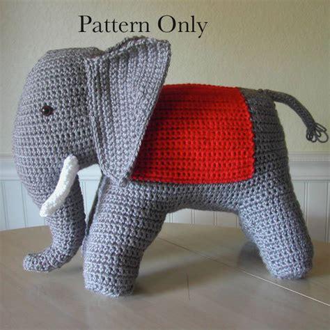 etsy elephant pattern crochet elephant pattern from 1940s