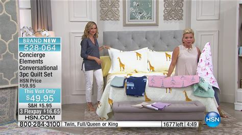 hsn concierge collection bedding 05 17 2017 10 pm