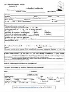 Pet Adoption Application Template by Animal Rescue Cabarrus Animal Rescue Hs Cabarrus Animal