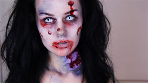 zombie makeup tutorial    easy zombie makeup