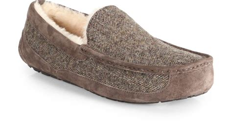 tweed slippers ugg ascot tweed slippers in for lyst