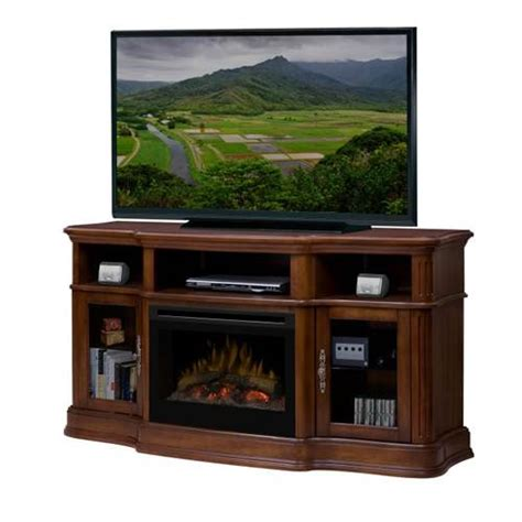 real frederick electric fireplace media console