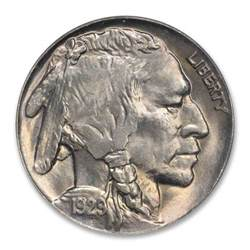1929 5c buffalo nickel pcgs ms66