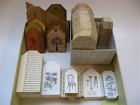 Paper Craft Using Books - 4 book crafts for