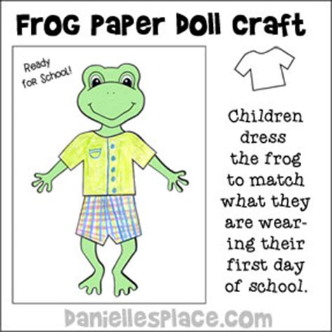 froggy goes to school crafts and learning activities for kids