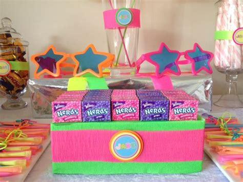 Neon Candy Buffet Annalise S 11th Birthday Pinterest Neon Buffet