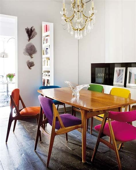 Multi Colored Dining Chairs Multi Colored Dining Chairs A Playful Touch For The D 233 Cor