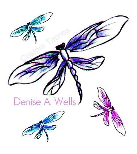 quot dragonfly quot tattoo designs by denise a wells