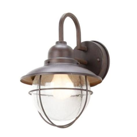 outdoor lights at home depot hton bay 1 light brick patina outdoor cottage lantern