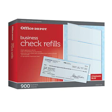 Office Depot Background Check Office Depot Brand Standard Blue Business Check Refills Box Of 900 By Office Depot