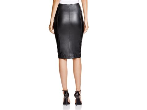 black faux leather pencil skirt www imgkid the