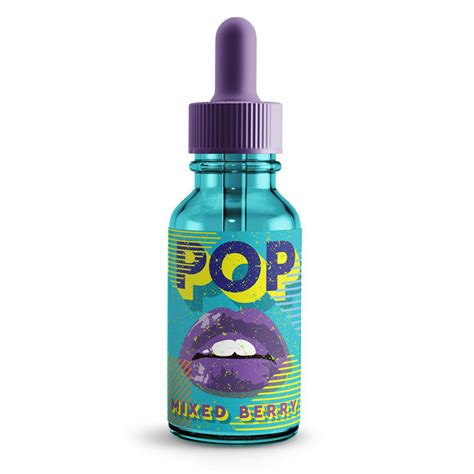 E Liquid Fruit Pop 1 30ml mixed berry 0mg high vg eliquid without nicotine